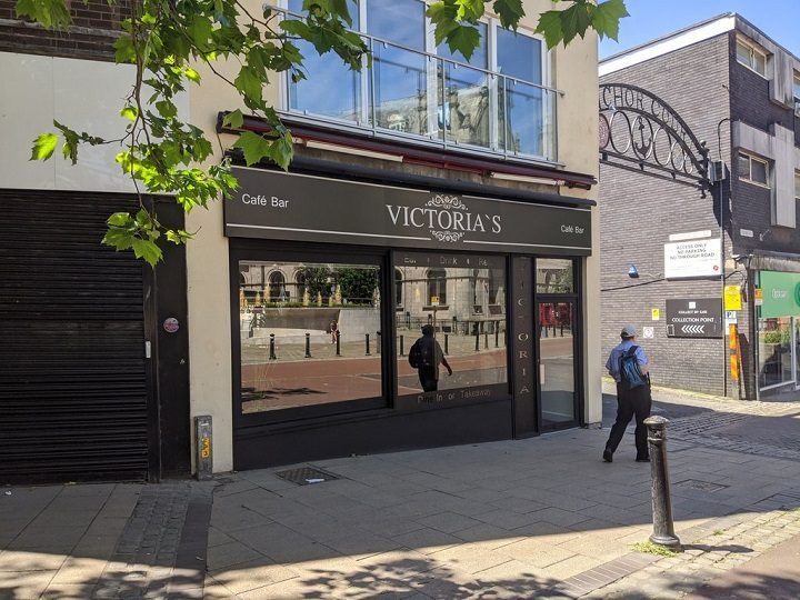 The outside of the new Victoria's cafe bar Pic: Tony Worrall