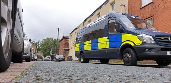 Police van in Dundonald Street