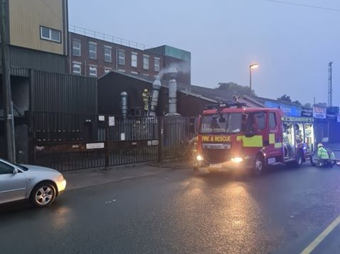 A fire broke out at Quattro takeaway last night