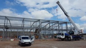 Construction of the new units is underway at Lancashire Business Park.`