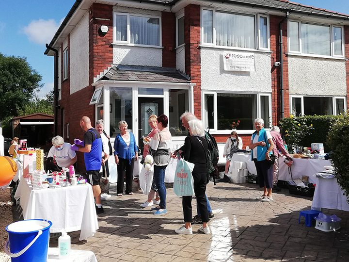 Summer fete attendees on Norma's drive