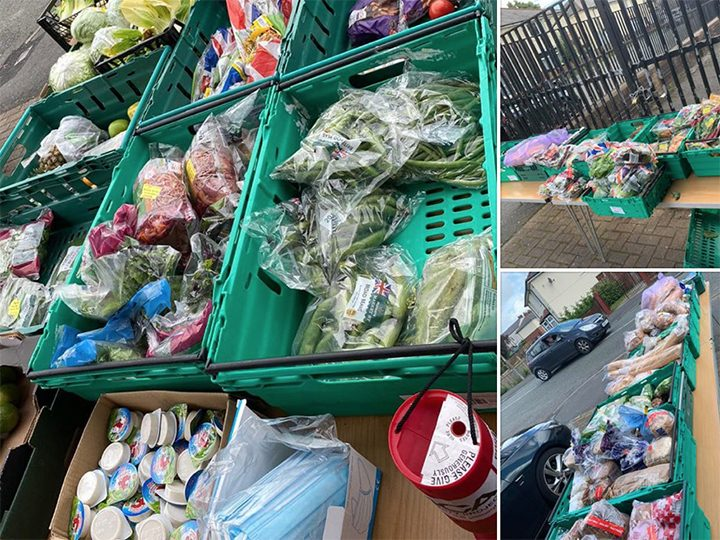 Fresh produce at the food market