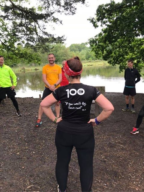 Ramona after completing her 100th parkrun in 100 days