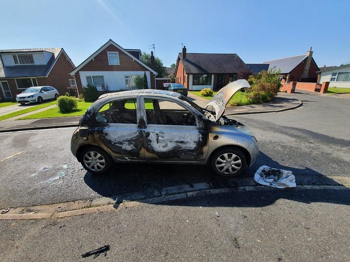 Burnt Nissan Micra