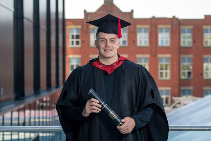Former UCLan student Rhodri Loyd who graduated in 2019