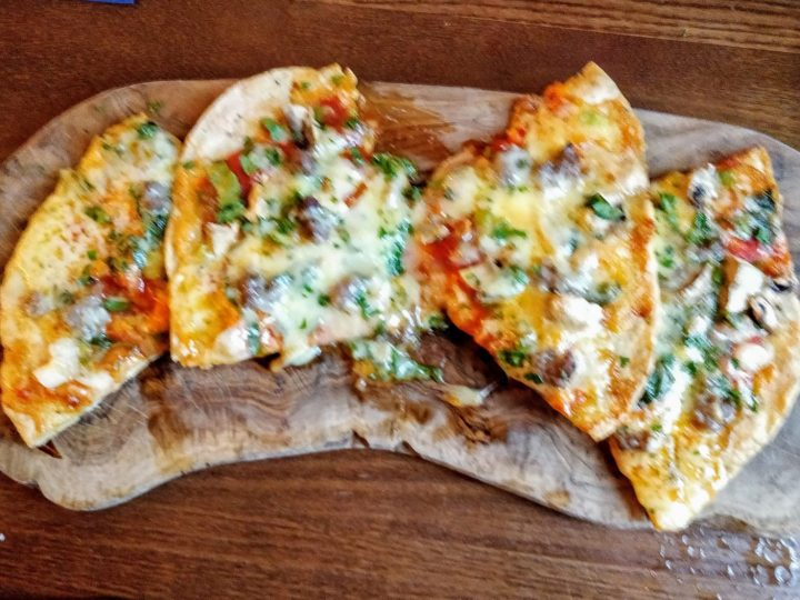Russian flatbread pizza