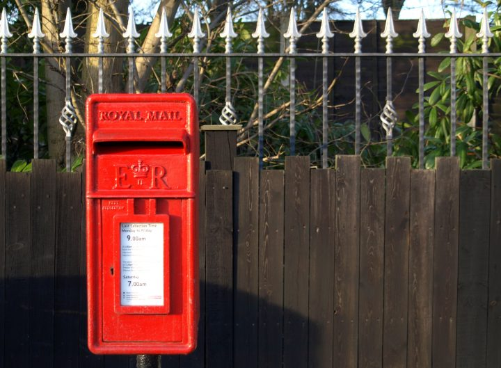 Red post box. Pic: Tony Worrall.