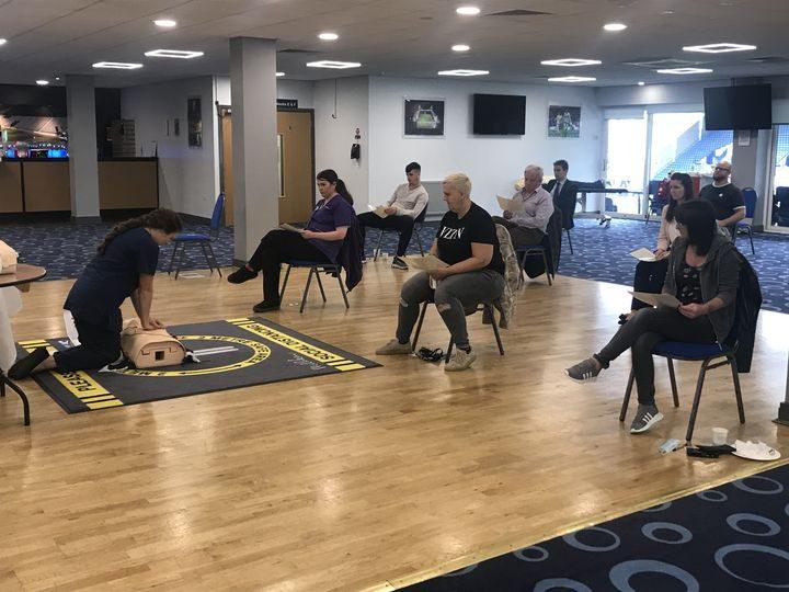 Deepdale staff receiving training