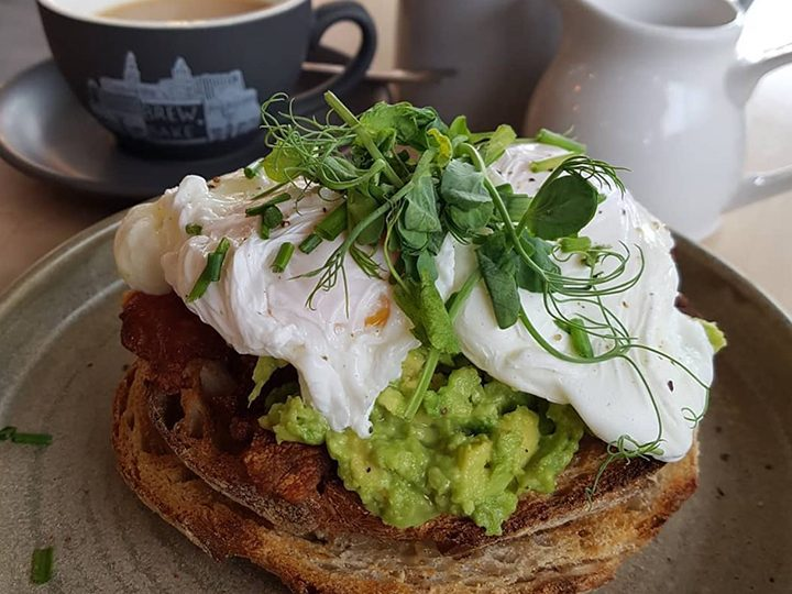 Avocado and poached egg on sourdough Pic: Brew + Bake / Facebook