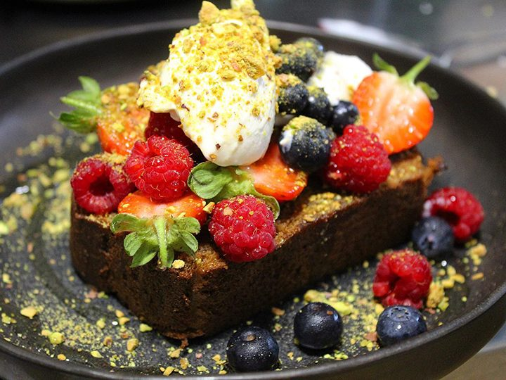 Banana bread with fruit and mascarpone Pic: The Cow Shed / Facebook
