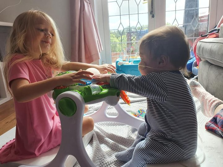 Blake playing with his sister
