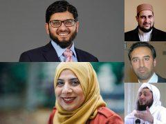 Coronavirus and Mosques Panel Members (top-left Imam Qari Asim MBE, bottom-left Saba Zaman, top-right host Adam Kelwick, middle-right Shaukat Warraich, bottom-right Mufti Rafiq Sufi)