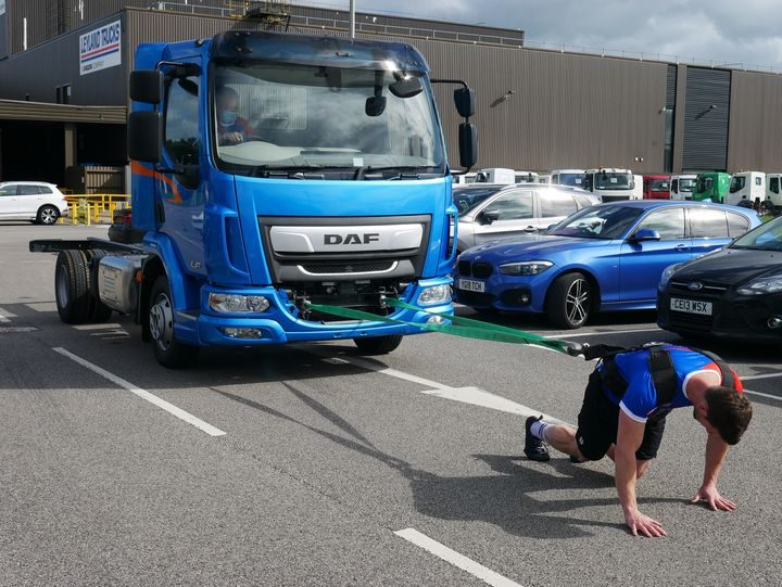 Lead engineer, Ben Holloway's, truck pull