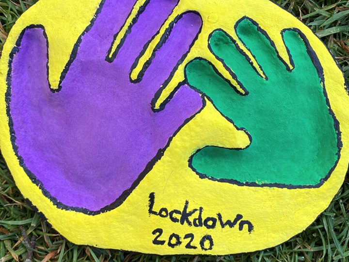 Lockdown handprint crafts