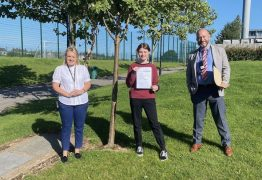 Fulwood Academy Head Girl, Lucy Corner, achieved top grades