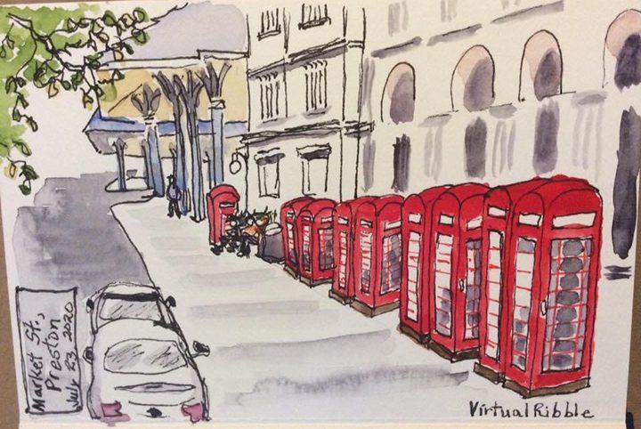 Sketch of Market Street