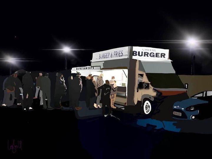 The burger van at PNE