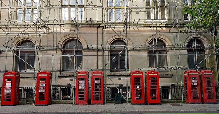 Phone boxes Pic: Michael Durnan