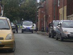 Police on the scene after Elcho Street gunshot
