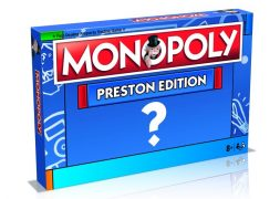 A mock up of the MONOPOLY Preston Edition box