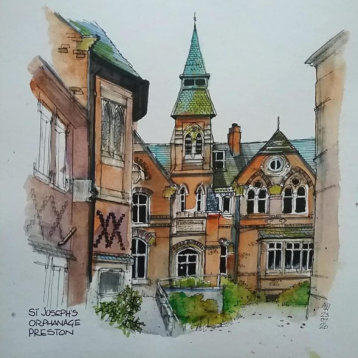 Sketch of St Joseph's Orphanage