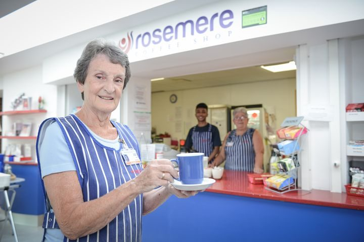 The Rosemere Coffee Shop volunteers