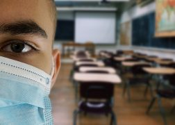 School student wearing face mask in classroom Pic: Alexandra_Koch from Pixabay