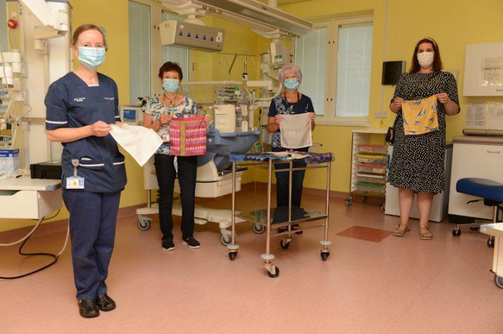 Baby Beat using silk sheets at Royal Preston Hospital.