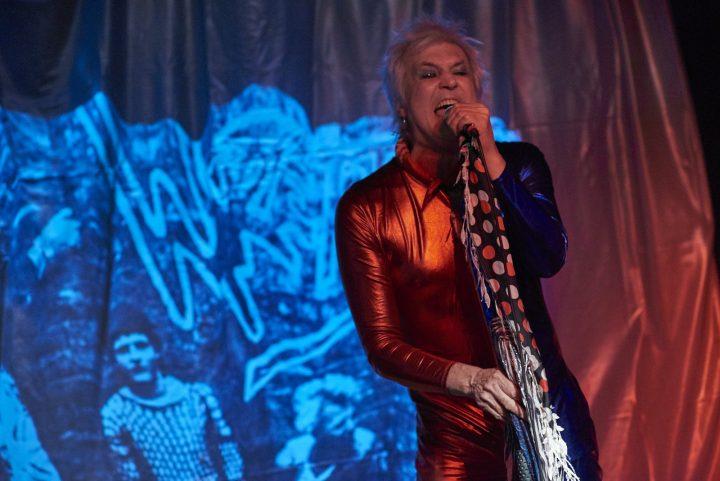 Lee Mark Jones performing in A Rock 'N' Roll suicide.