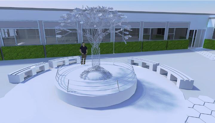 Designs for the memorial garden at Royal Preston Hospital