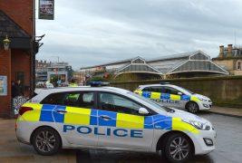 Police cars in Preston city centre Pic: Tony Worrall