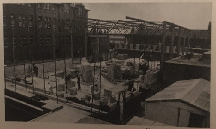 A photo showing the construction of the sports hall was featured in the June 1970 edition of the Preston Catholic College magazine Pic: Ralph Cooper