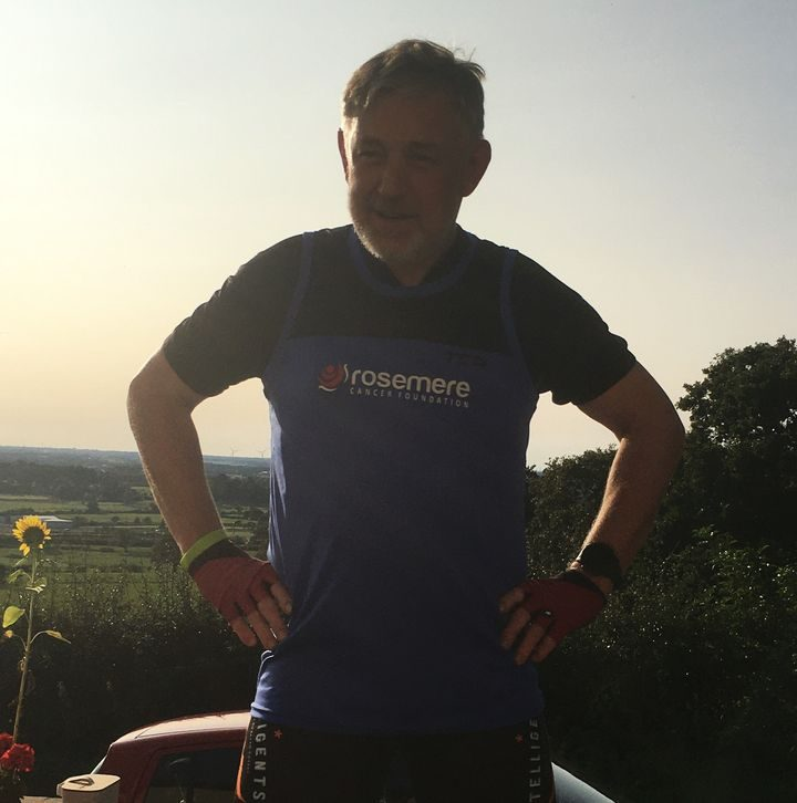 Colin on his three hills for three charities challenge