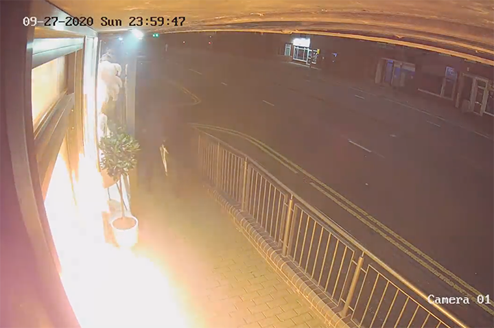 CCTV footage of the fire at The iLashed Academy
