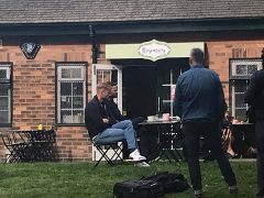 Freddie and Jamie filming at Rosemary on the Park
