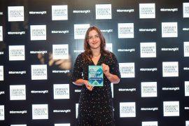 UCLan Fashion Promotion graduate, April Howie, receives the Graduate Fashion Week New Fashion Media Award