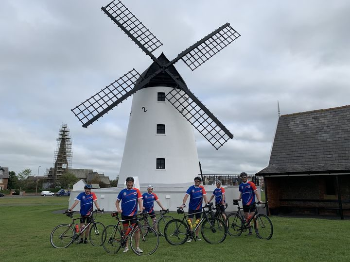A socially distanced Leyland to Lytham cycle was one of many fundraising challenges making up Helping Hand's Miles Better Together initiative