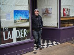 John Robertson with his work on display at The Larder Pic: Lisa Brown