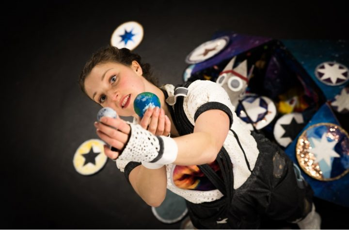 Preston-based dancer Lucy Starkey who is performing the moves for the Space in Schools project - Image credit: Into Our Skies, Photographs by Rebecca Richards