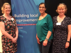 NTA Finalists Lancashire Teaching Hospitals. Maternity improvement leads: L-R Andrea Whitehead, Richa Gupta, Fiona Crossfill.