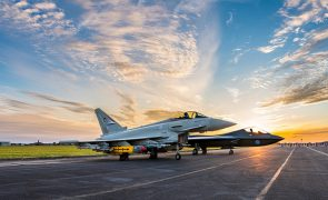 Eurofighter Typhoon alongside the Tempest concept model at Warton Pic: BAE Systems