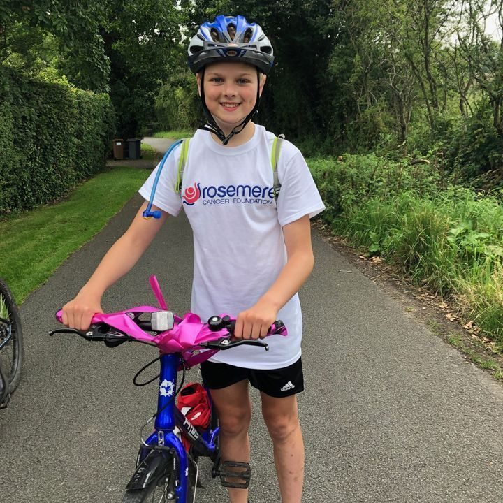 Preston schoolboy Lewis finishes his challenge