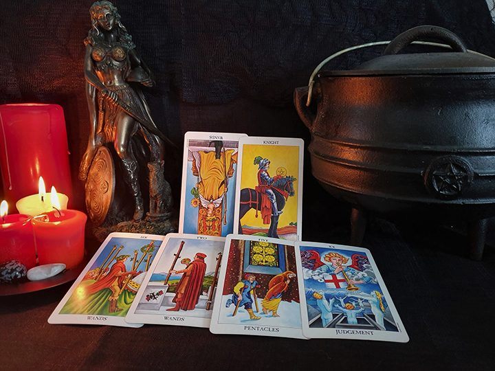 Scorpio October tarot reading Pic: Violetann Tarot