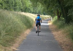 A cyclist on Preston's Guild Wheel Pic: Tony Worrall