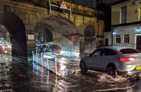 Surface water in Preston after heavy rain Pic: Tony Worrall