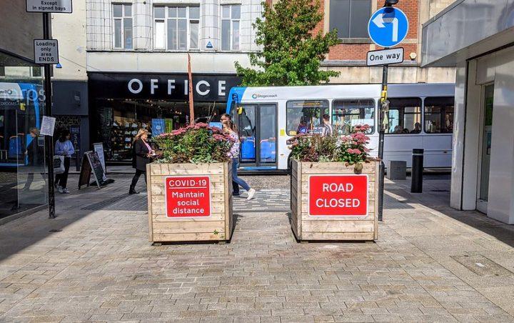 Covid-19 street closures in Preston city centre Pic: Tony Worrall
