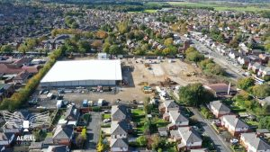 7 months apart and full steam ahead for Tesco in Penwortham Pic: Aerial Video TV