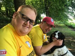 Two friends reunited through walking dogs for Barks and Recreation
