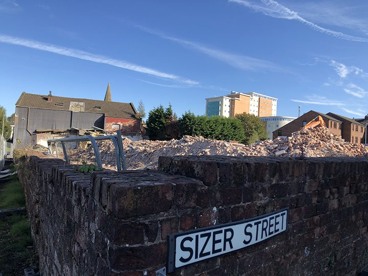 View of the demolition from Sizer Street Pic: Blog Preston