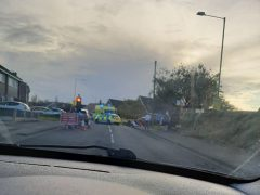 Emergency services at the scene Pic: Shane King